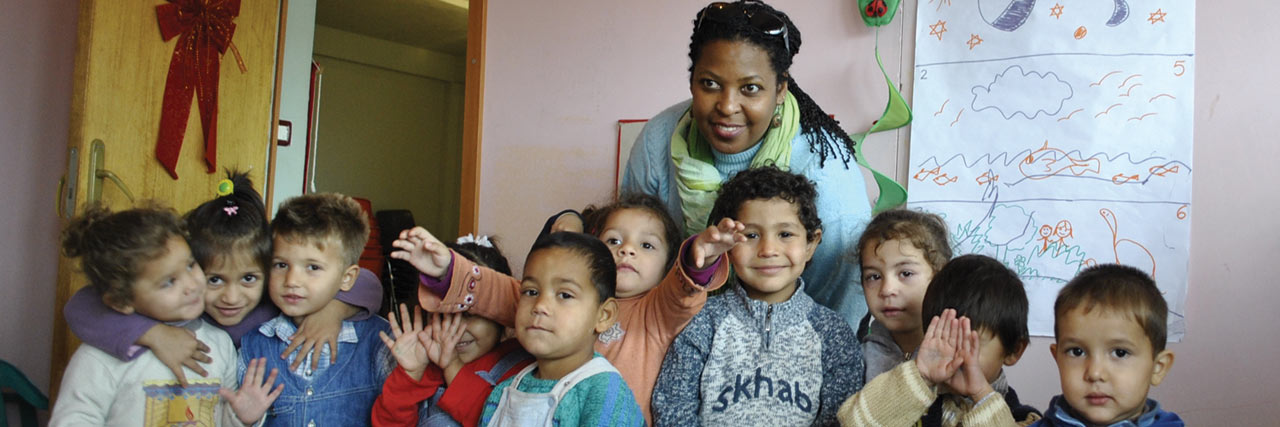 Norma Teles works with Roma children at the Joshua Center, an early childhood education center where the children learn about God, good habits and making friends. Read about <a href='http://vmmissions.org/2012/04/mission-encouragements-at-joshua-center/'>Norma's work</a> earlier this year.