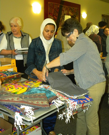 The blitz was a time of fellowship between Park View Mennonites and members of the Islamic Center of Shenandoah Valley.