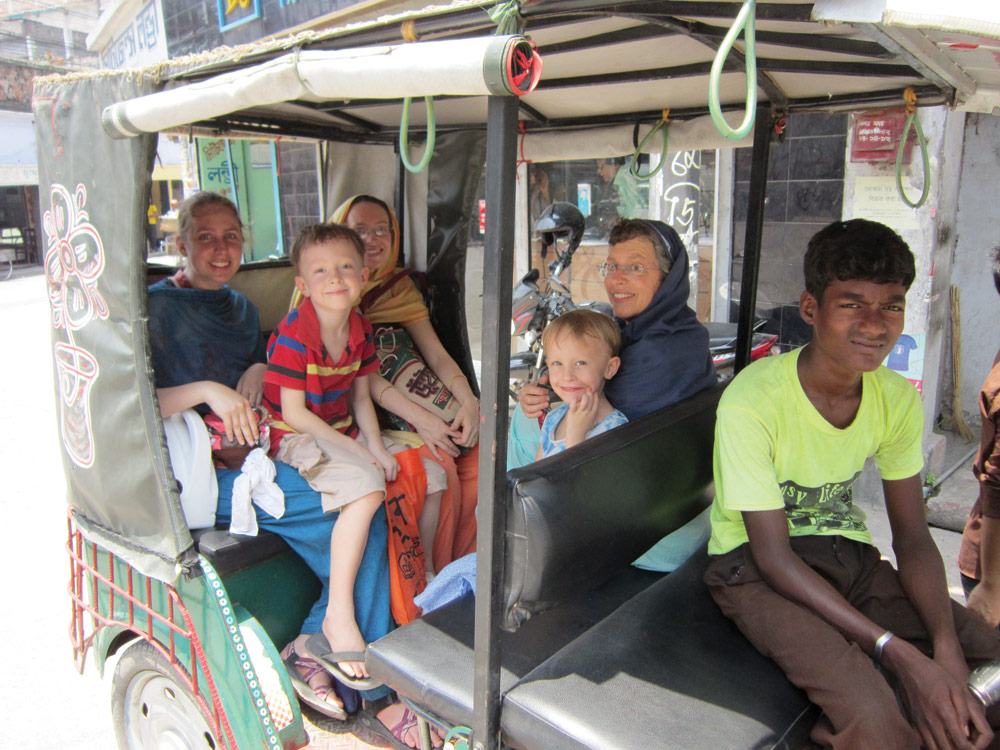 A family outing in South Asia.  (Names withheld  for security.)  Photo by Skip Tobin