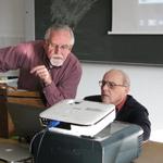 Don Clymer prepares for a seminar