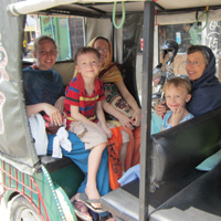 A family outing in South Asia
