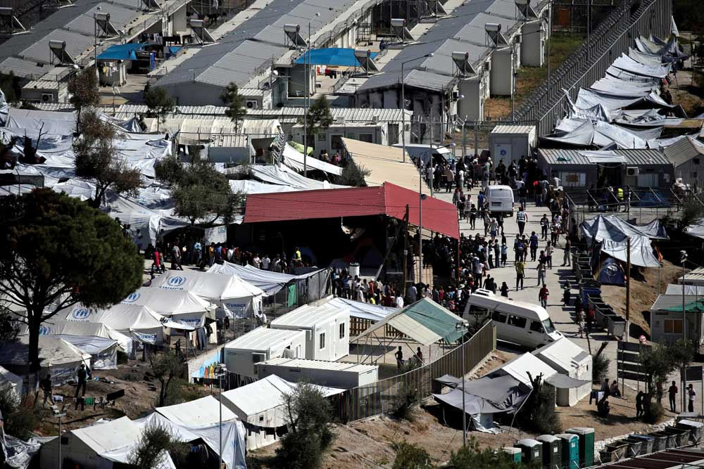 The sprawling Moria refugee camp in Lesvos. Photo: UNHCR