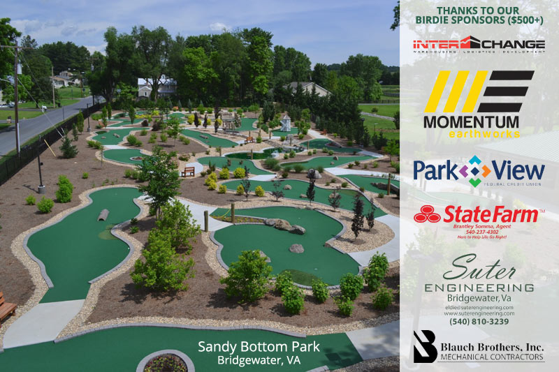 Sandy Bottom Park and sponsors