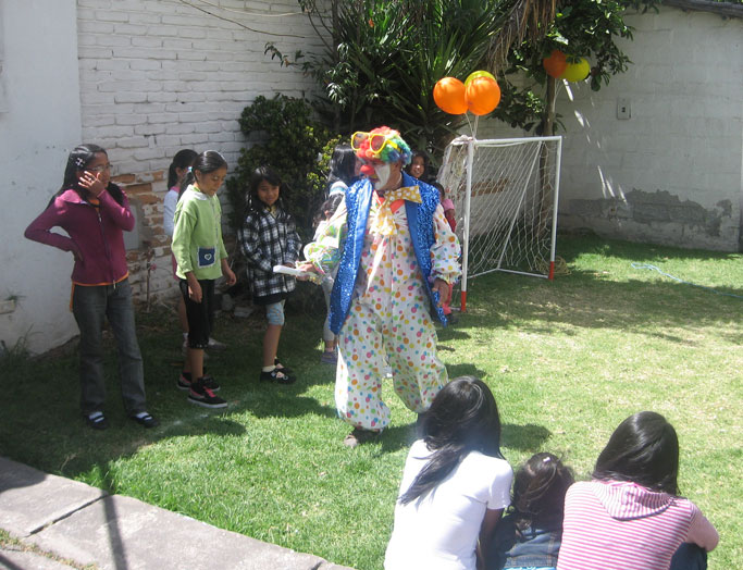 The Colombian man, a clown, who David met as a refugee in Ecuador.