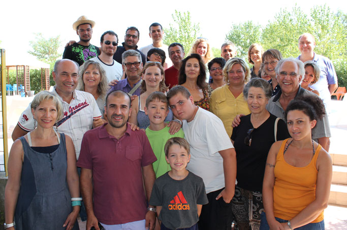 The group that gathered for Family Camp 2012