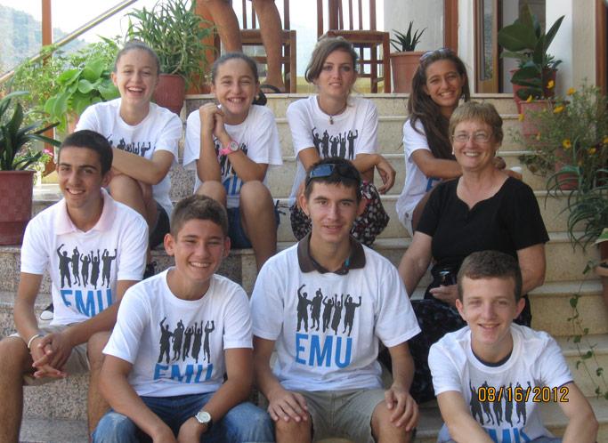 Students at Lezha Academic Center with Bonnie Zook. Photo courtesy of author