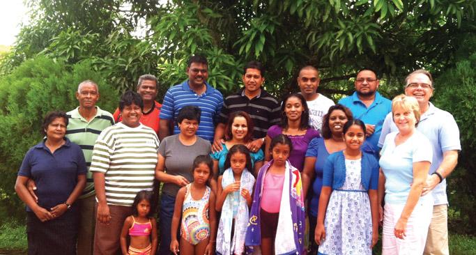 Mennonite Church of Trinidad & Tobago leaders at a pastors retreat