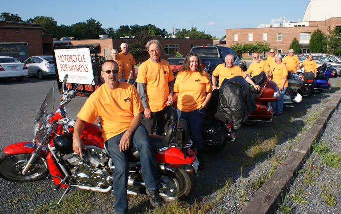 Motorcycle for Missions participants