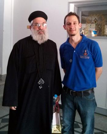 """Twins"" Abouna Yusef (Father Joseph), a Coptic priest, with Father Joe Goldsmith."