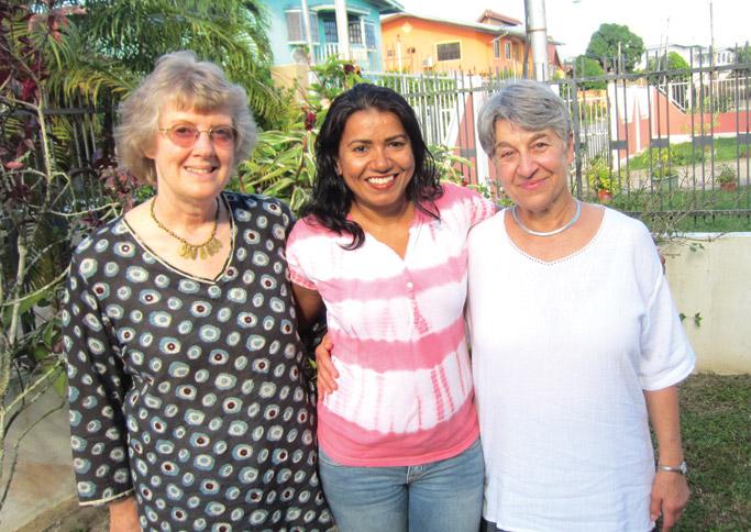 (l to r) Rhoda Keener, Marsha Ragoonath, Carolyn  Heggen, co-leaders of the seminar.
