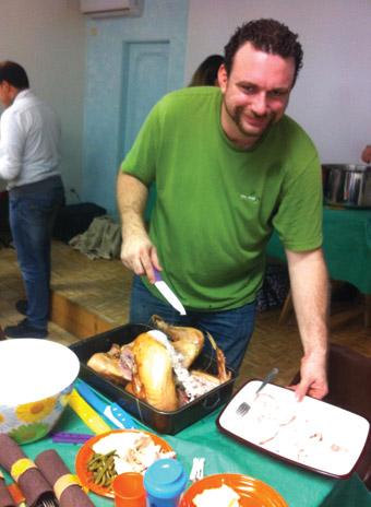 Shawn Green cuts turkey