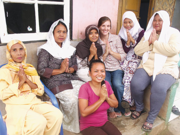 Grace engages women in her community. Courtesy of Grace