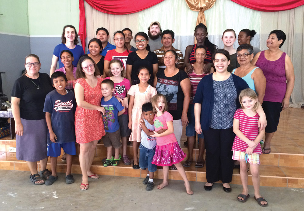 Jesus' Deaf Church in March 2016 with Youth With A Mission visitors. Nancy Marshall (left) has been pastoring the church in Belize since 2005. Along the way, she has discipled several young people for pastoral leadership.
