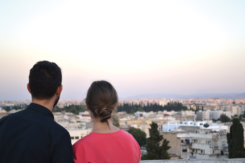 Raleigh and Opal* look out over their city in North Africa, praying for open hearts and transformation. Photos courtesy of author