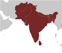 Region of South Asia