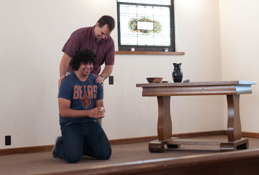 Joy and laughter accompany Yousif's new commitment to walk in the way of Jesus. Photo courtesy of author
