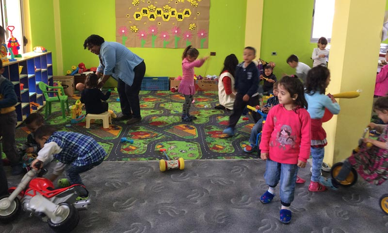 Play time at the Joshua Center is an important part of the day. Courtesy of Janet Blosser