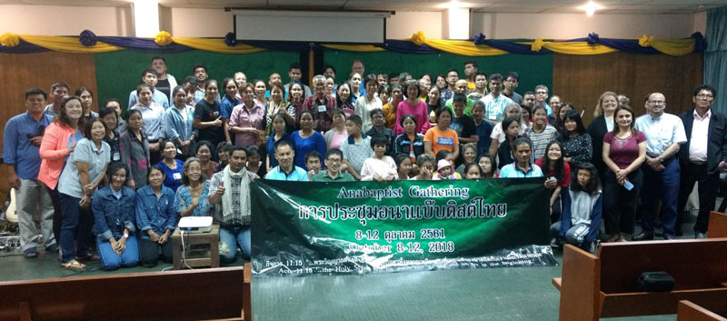 The group at the Thailand Anabaptist Gathering, 2018. Photo courtesy of Mark and Sarah Schoenhals