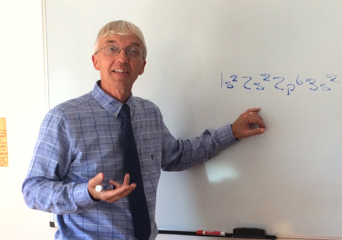 Jim Beachy teaches chemistry for high school grades at LAC.
