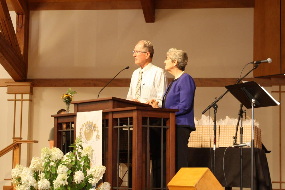 "Richard Keeler spoke of his work in Trinidad, where the door to the gospel was opened initially through his medical ministry to leprosy patients. His wife, Margaret, herself an adult convert to faith in Christ, recounted her move from Scotland to her native Trinidad in obedience to God's call. She soon met Richard, and ""Scotland lost its luster."" Photo: Jon Trotter"