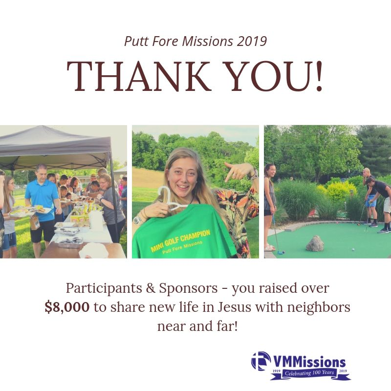 Putt Fore Missions thank you
