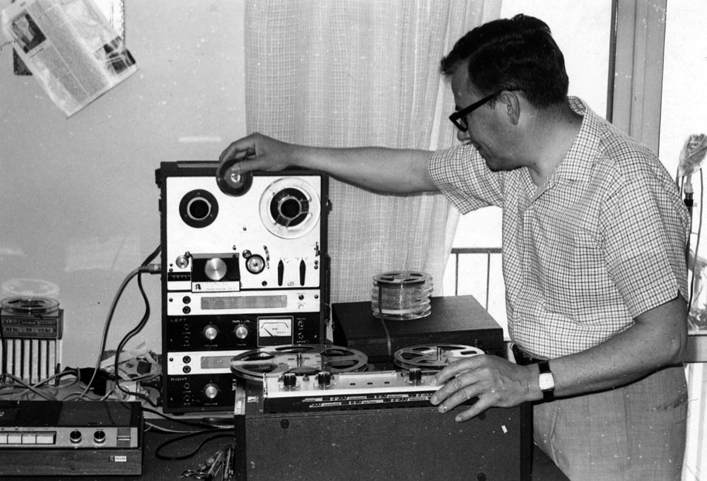 (left) Missionary Paul Lehman produced music for Italian radio in 1950s and 1960s. VMC Archives