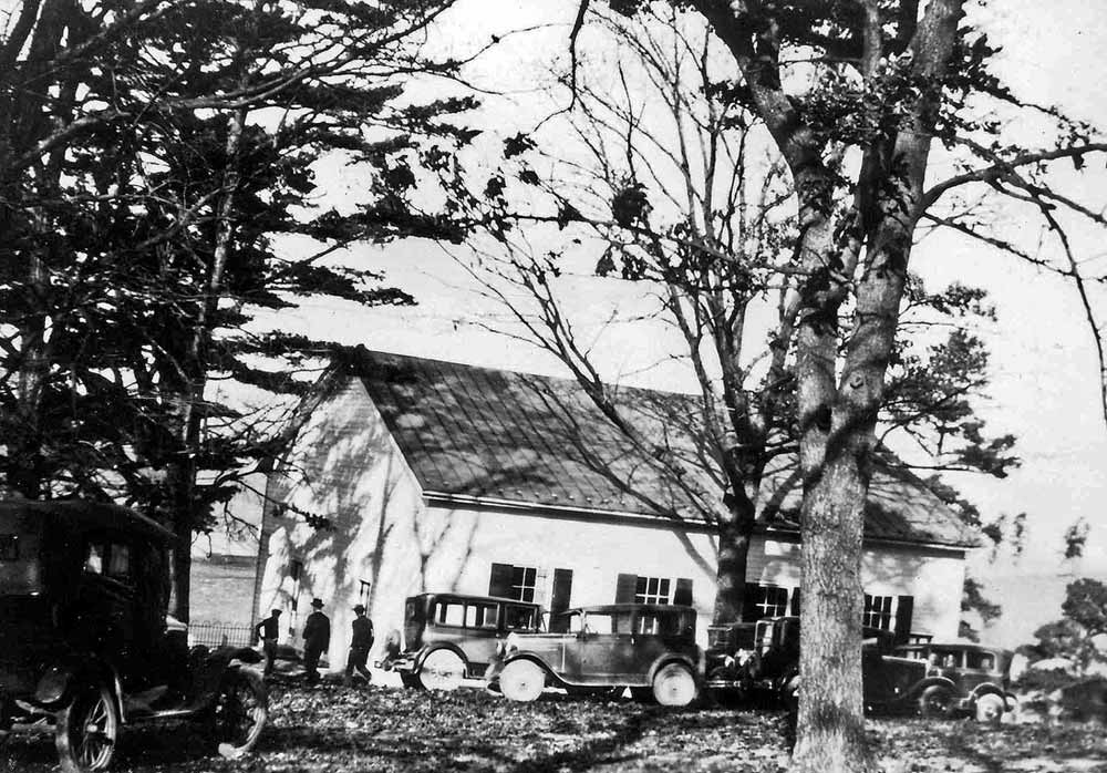 Zion Mennonite Church, Broadway, Va., was the site where Virginia Mennonite Conference voted to form Virginia Mennonite Board of Missions and Charities on October 17, 1919. Photo: John L. Stauffer; James Rush collection