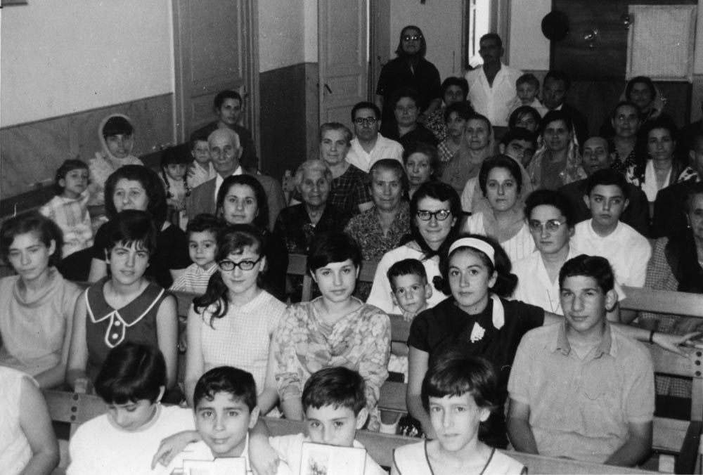 The Centro Agape church in Palermo, Sicily, in 1966. The work in Palermo was the first international outreach of the mission board in 1949, and the congregation born through the ministry of Franca Ceraulo and others was the first Mennonite church in Italy. Photo: VMC Archives