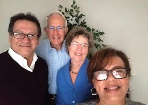 From left: Juan José Lagos, David and Anita Kindy, and Cecilia Lagos. Photo courtesy of Skip Tobin
