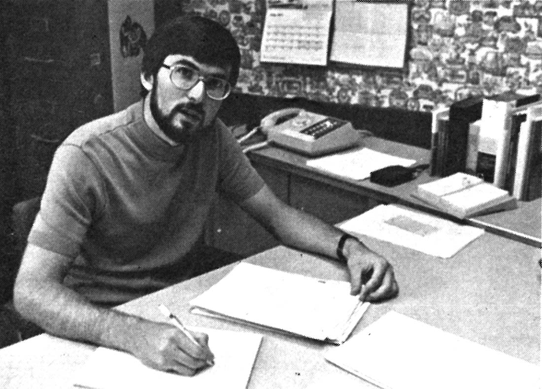 Loren Horst served as Eastern Area VS Director in  Winston-Salem, N.C., pictured here in 1977. The Winston-Salem VS (Voluntary Service) Unit served low-income people, senior citizens, children through day-care centers, and others in that city, while nuturing the spiritual growth of the service participants. Photo: Missionary Light, Sept-Oct 1977